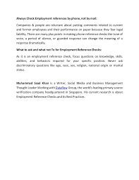 reference letter for prior employee resume template for us