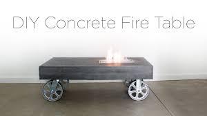 diy concrete firetable youtube