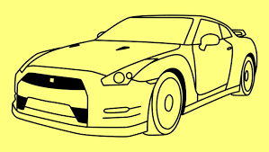 nissan skyline drawing outline drawn vehicle fast and furious pencil and in color drawn vehicle