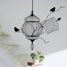 birds cage tree branch creative modern vinyl wall sticker birds cage tree branch creative modern vinyl wall sticker removable waterproofing home wall decal zy8231 decal art decal art for walls from mr mo