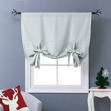 Tie Up Window Curtains Amazon Com Best Home Fashion Thermal Insulated Blackout Tie Up