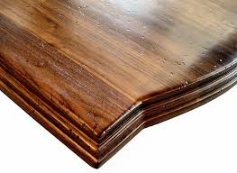 custom wood countertop options distressing face grain walnut island top with distressing