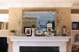 Decorating A Mantle Spring Mantle Stonegable
