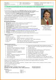 Sap Project Manager Resume 7 It Project Manager Cv Ledger Paper