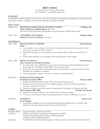 Example Of Resume Summary For Freshers 100 Cv Samples For Bba Freshers Finance Resume Sample