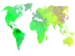 Watercolor Map Of The World watercolor world map u2013 carly hildebrand