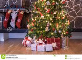 christmas stockings and tree stock photo image 59596568