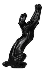 art deco style fiberglass panther statue chairish
