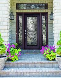 beveled glass entry door plastpro wrought iron priscilla fiberglass single door with