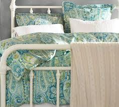 Porcelain Blue Duvet Cover Painterly Paisley 400 Thread Count Duvet Cover U0026 Sham Porcelain