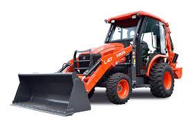 kubota l47 tractor loader backhoe cab