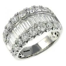 eternity rings diamonds images Platinum 3 29ct baguette round diamond eternity ring wedding jpg