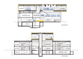 Municipal Hall Floor Plan by Gallery Of New Library And Renovation Of City Hall In Søgne A