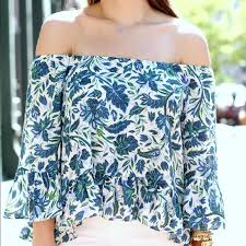 74 off topshop tops topshop bell sleeve off the shoulder top