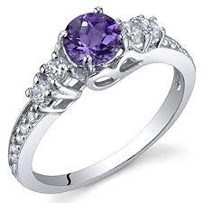 silver amethyst rings images Enchanting 0 50 carats amethyst ring in sterling jpg