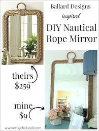 diy nautical home decor diy nautical rope mirror inspired by hometalk
