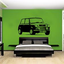 aliexpress com buy large car mini cooper classic bedroom wall aliexpress com buy large car mini cooper classic bedroom wall art decal sticker removable vinyl transfer stencil mural home bedroom decor from reliable