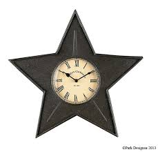 amazon com black star kitchen wall clock home u0026 kitchen