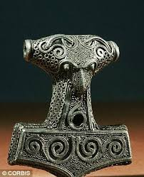 the hammer of thor unearthed in denmark daily mail online