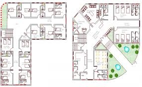 guest house floor plans and floor plan of guest house for hospital staff dwg file