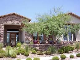 elegant formal desert front yard landscape home designs