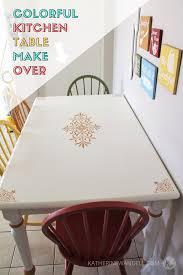 Colorful Dining Room by Colorful Dining Room Table Makeover Katherine Wandell