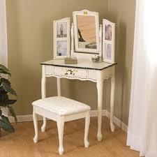 Childrens Vanity Desk Bedroom Vanity Sets Girls Vanity Set White W Pink Vinyl Fronts