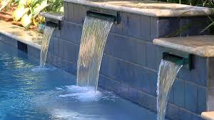rectangle swimming pool with water features video aqua blue