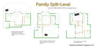good building house floor plans 2 stock photo split level