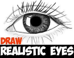 how to draw realistic eyes with easy step by step drawing