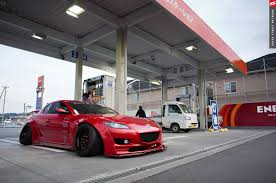 rx8 car rocket bunny rx 8 w 20 degrees camber stance too far