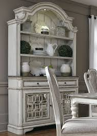 antique white buffet table magnolia manor antique white buffet with hutch from liberty