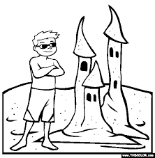 Beach Online Coloring Pages Page 1 Sandcastle Coloring Page