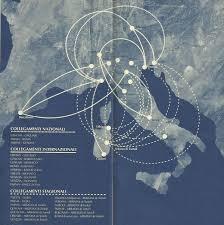 Lufthansa Route Map by Airline Memorabilia Air Dolomiti 1995
