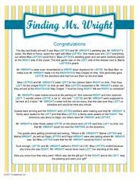 free printable bridal shower left right game going to the chapel left right story game craft ideas