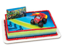 childrens monster truck videos cakes amazon com blaze and the monster machines cake topper toys u0026 games