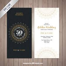 wedding invitation sles classic golden wedding invitation vector free