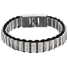 rubber steel bracelet images Mens rubber bracelets tribal hollywood jpg