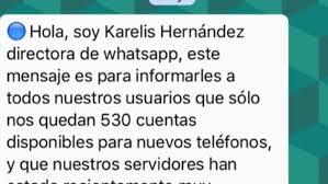 hola imagenes whatsapp hola soy karelis hernández la falsa cadena de whatsapp que todos