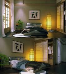 Japanese Style Home Interior Design Japanese Style Bedroom Filled Floating Bed Frame Design Plus