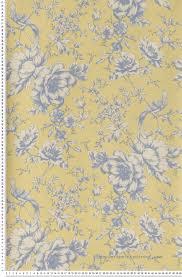 papier peint lutece chambre papier peint fleurs et oiseaux bleu fond jaun papier peint lutèce