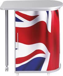 matelpro bureau bureau informatique design blanc imprimé drapeau anglais