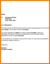 7 outstanding invoice letter short paid invoice
