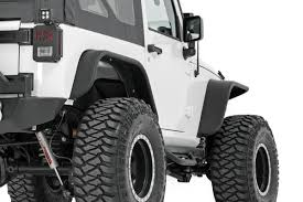 jeep jk suspension tubular front u0026 rear fender flares set for 2007 2017 jeep wrangler