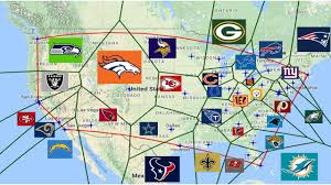 Nfl Coverage Map Map Where Closest Nfl Teams Album On Imgur 40 Maps And Charts