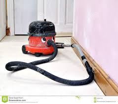 Hover Vaccum Happy Working Hoover Vacuum Cleaner Royalty Free Stock Image