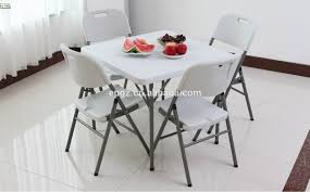folding plastic table chair folding dining tables plastic5ft table for white