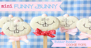mini funny bunny nutter butter cookie pops by munchkin munchies