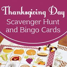 thanksgiving bingo and scavenger hunt