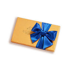 royal blue ribbon assorted chocolate gold gift box 8 pc royal blue ribbon godiva